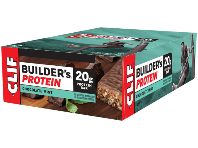 CLIF Bar Builder's Caja Barritas Proteína 12x68g, Chocolate Mint